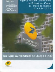 Agence Postale Bossay