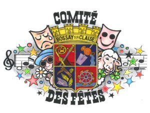 Logo comité des fêtes 2016 réalisé par Michel Claveau Bossay sur Claise