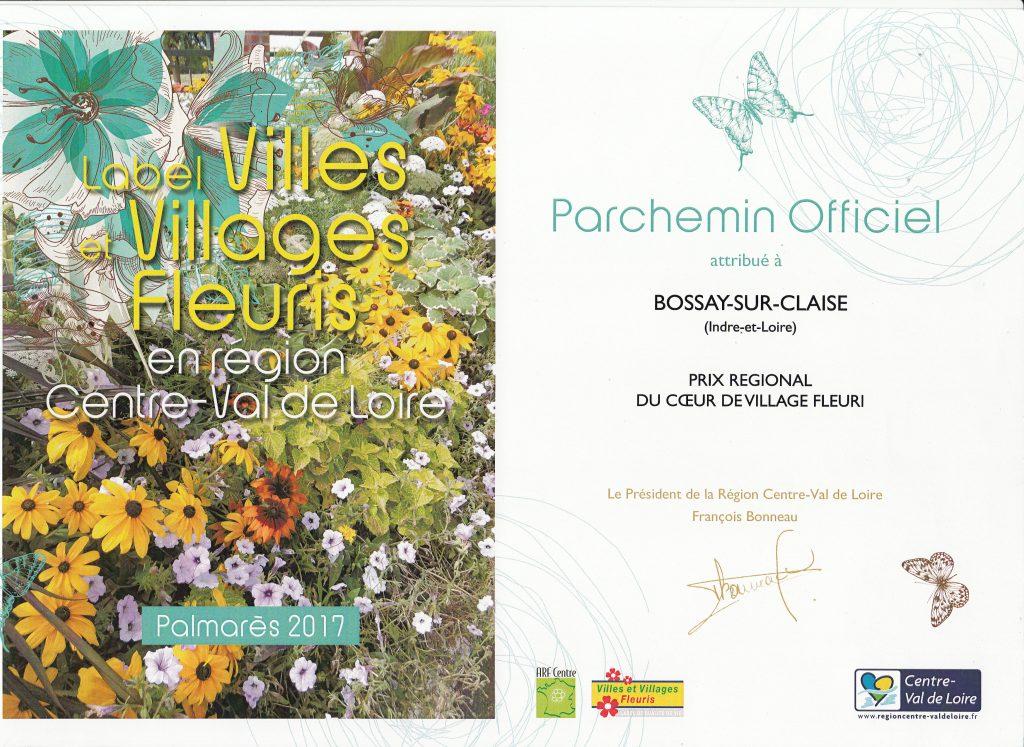Prix régional Coeur du village fleuri 2017